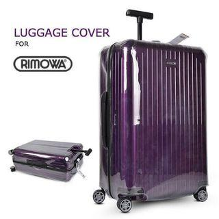 SEALNUDE Luggage Cover Protector for Rimowa/ Travel/ Suitcase Cover/ Suitcase Protector/ Luggage Bag Cover/ Sleeve/ Clear/ Transparent/ Plastic/ Waterproof [Y23790SD5190SC9800]