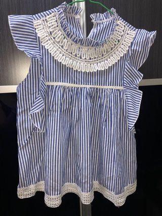 全新韓國背心 直間條紋女裝