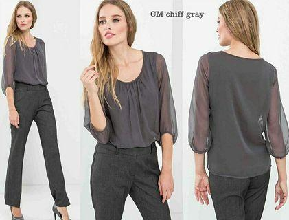 Grey Loose Top Big Size