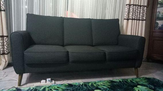 Scandinavian modern grey sofa