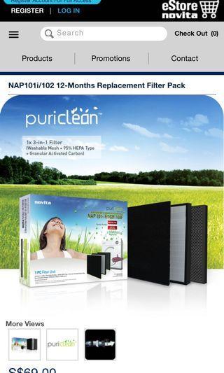 🚚 Novita NAP 101i replacement filter pack