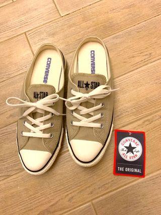 杏色Converse 踩踭鞋US4.5  JPN 23.5 購自日本