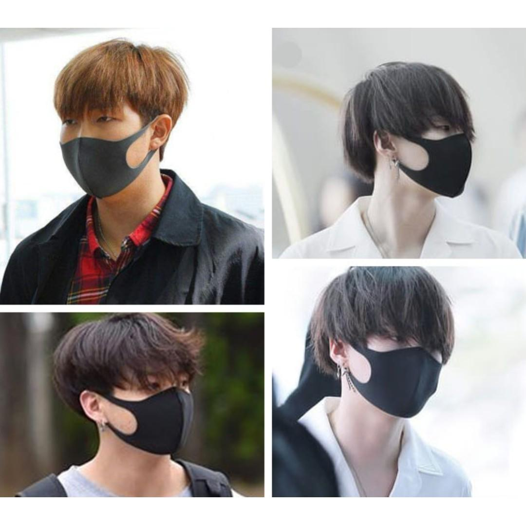 2mm Comfortable fashion Mask Air filtering Soft mask Washable mask BTS same type