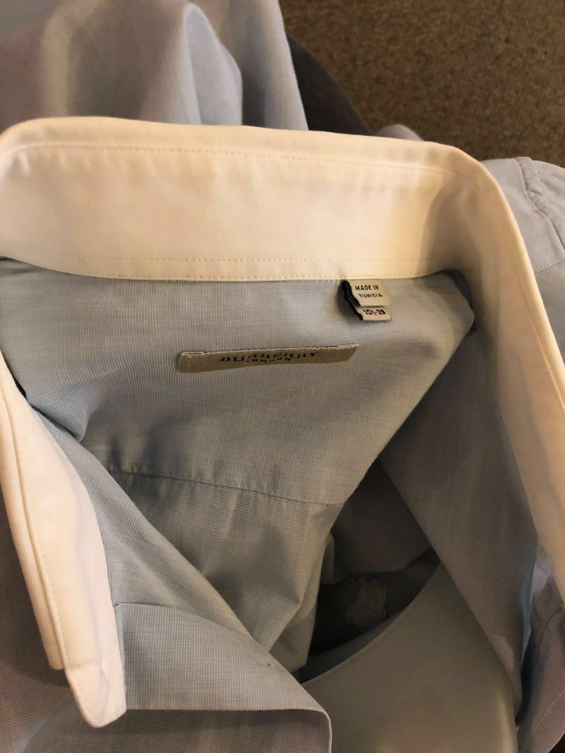 90% new Burberry shirt 15.5 inches 39cm