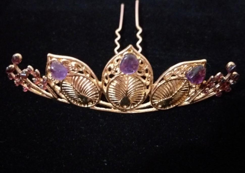 新品🍓石榴石、紫水晶發飾