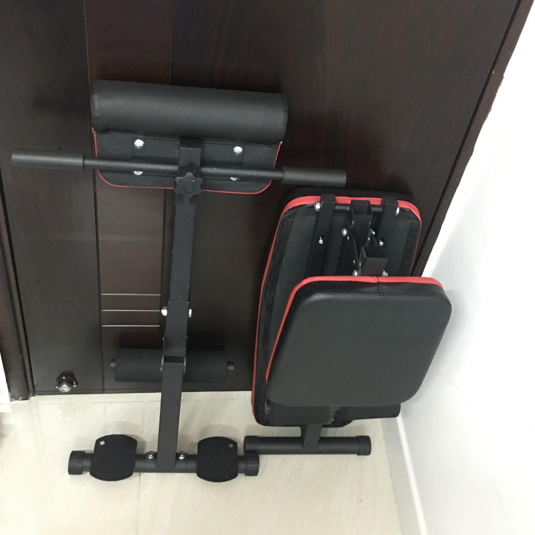 多功能摺合式健身椅 (連羅馬椅、牧師凳訓練) 7段調較 全新陳列品