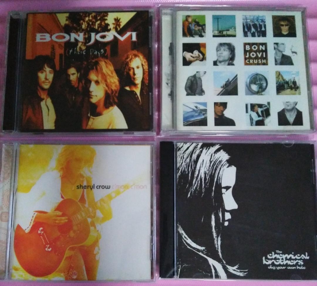 Imported Audio CDs: Bon Jovi - These Days, Bon Jovi - Crush, Sheryl