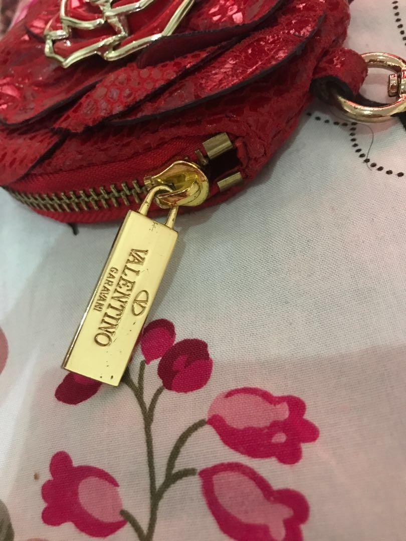 Auth valentino bagcharm coin pouch