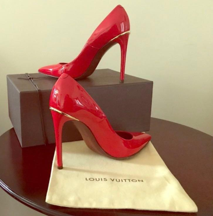 Authentic LOUIS VUITTON RED HEELS