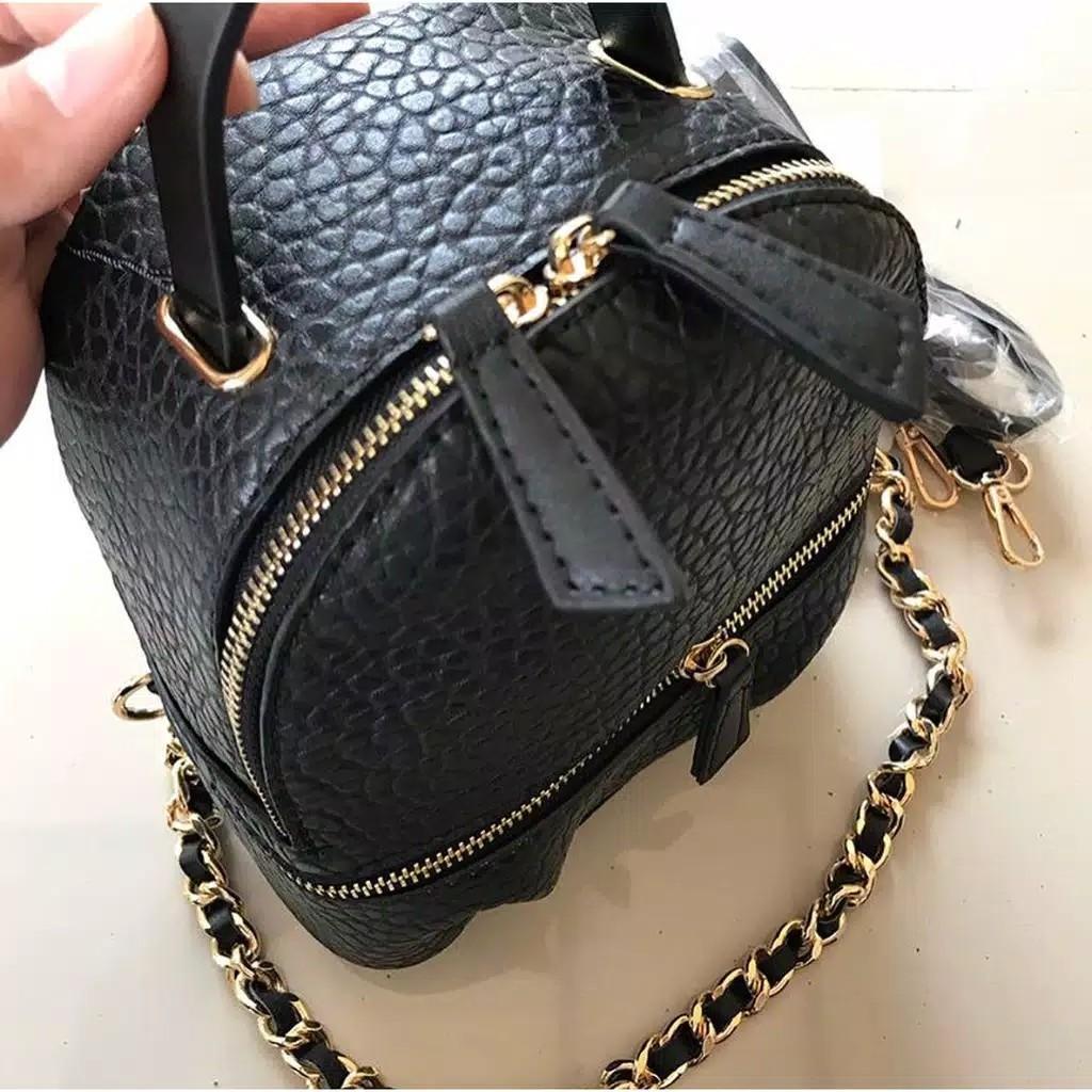 *BACKPACK ZARA* Matterial Leather Size 21x18x10 Cm JUAL 110RB AJA SISA 2PCS Yang Transfer Duluan Yang Dikasih!!
