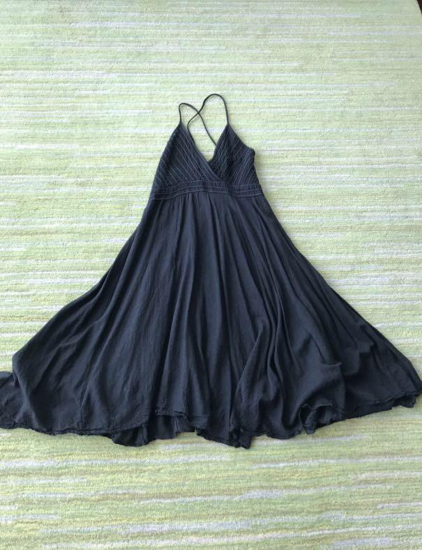 Black Summer Halter Neck Flare Dress