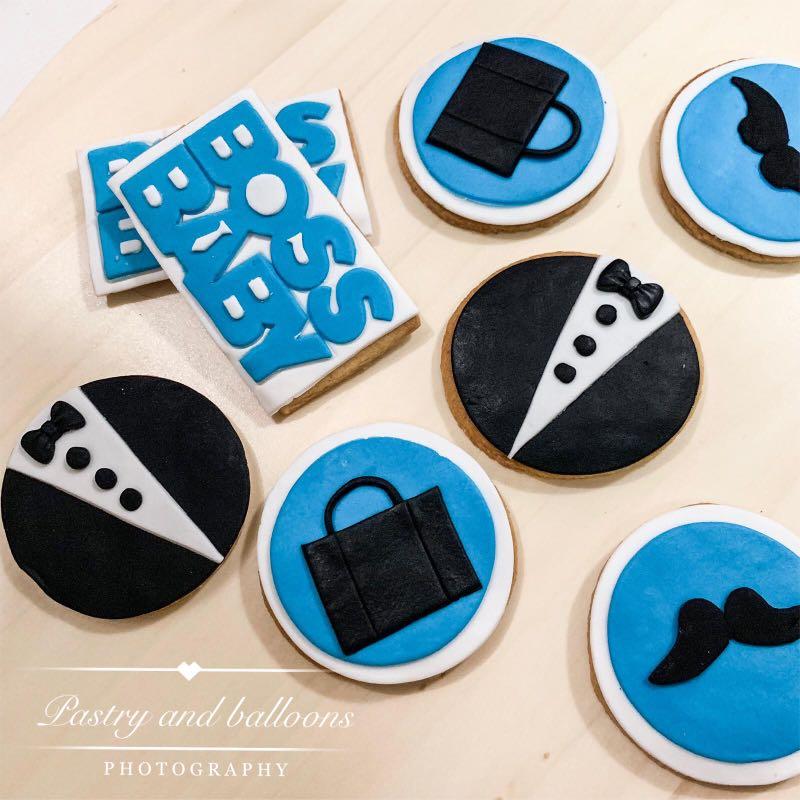 Boss Baby Cookies Cupcake Cake 2 Tier Cake Food Drinks