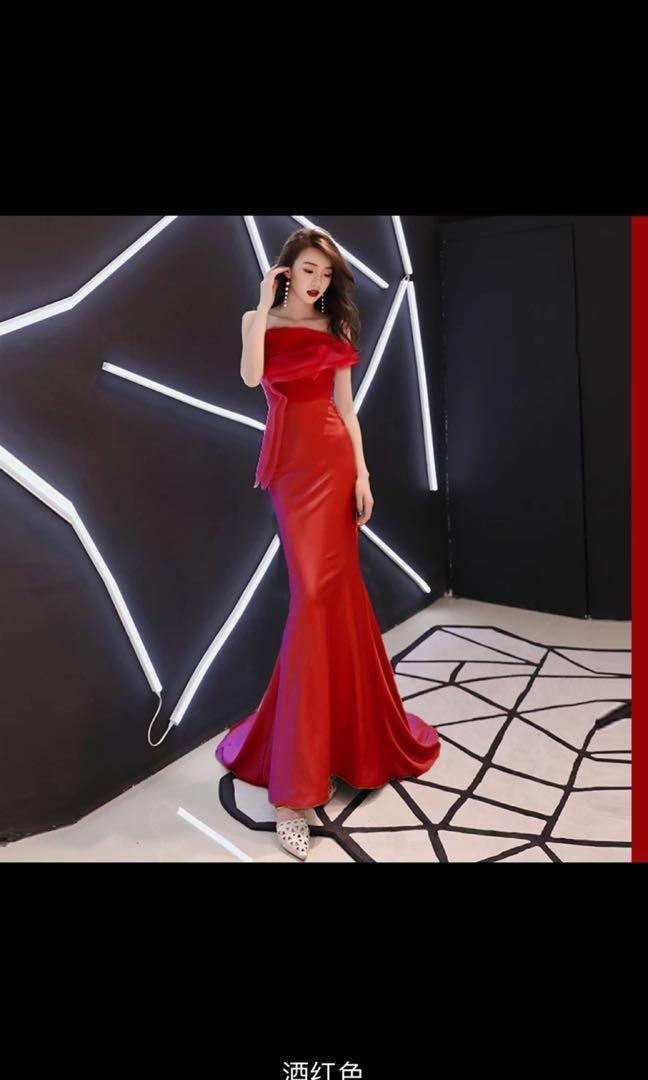 Buy/Rent Red long mermaid dress for