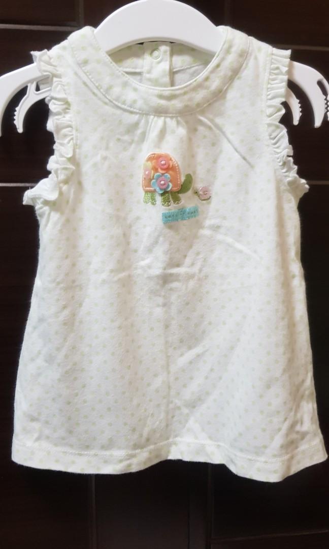 二手carter's女嬰9M可愛無袖上衣(9個月)