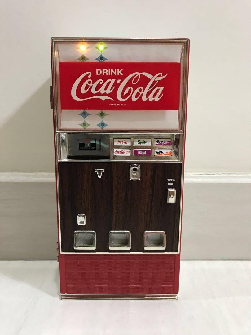 絕版Coca Cola可口可樂汽水機音樂錢箱