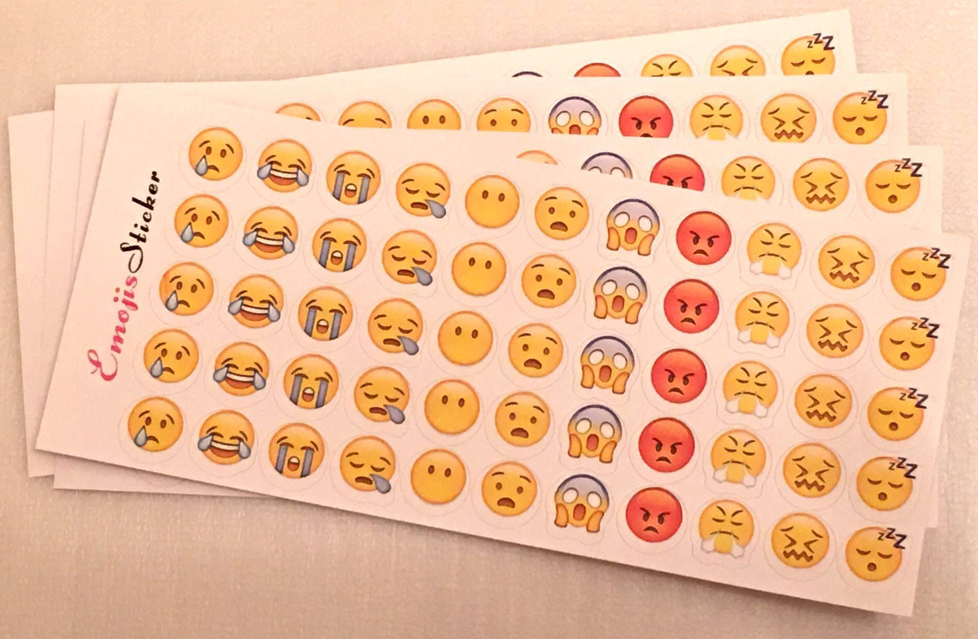 💢包郵💢Emojis Sticker 表情符號 貼紙 一套十張 每張55個小貼紙