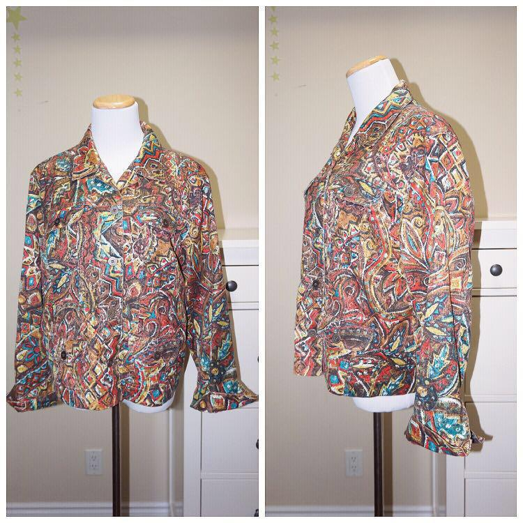 *Great Condition* Chico's Funky Print Jacket (fits like a M-L)