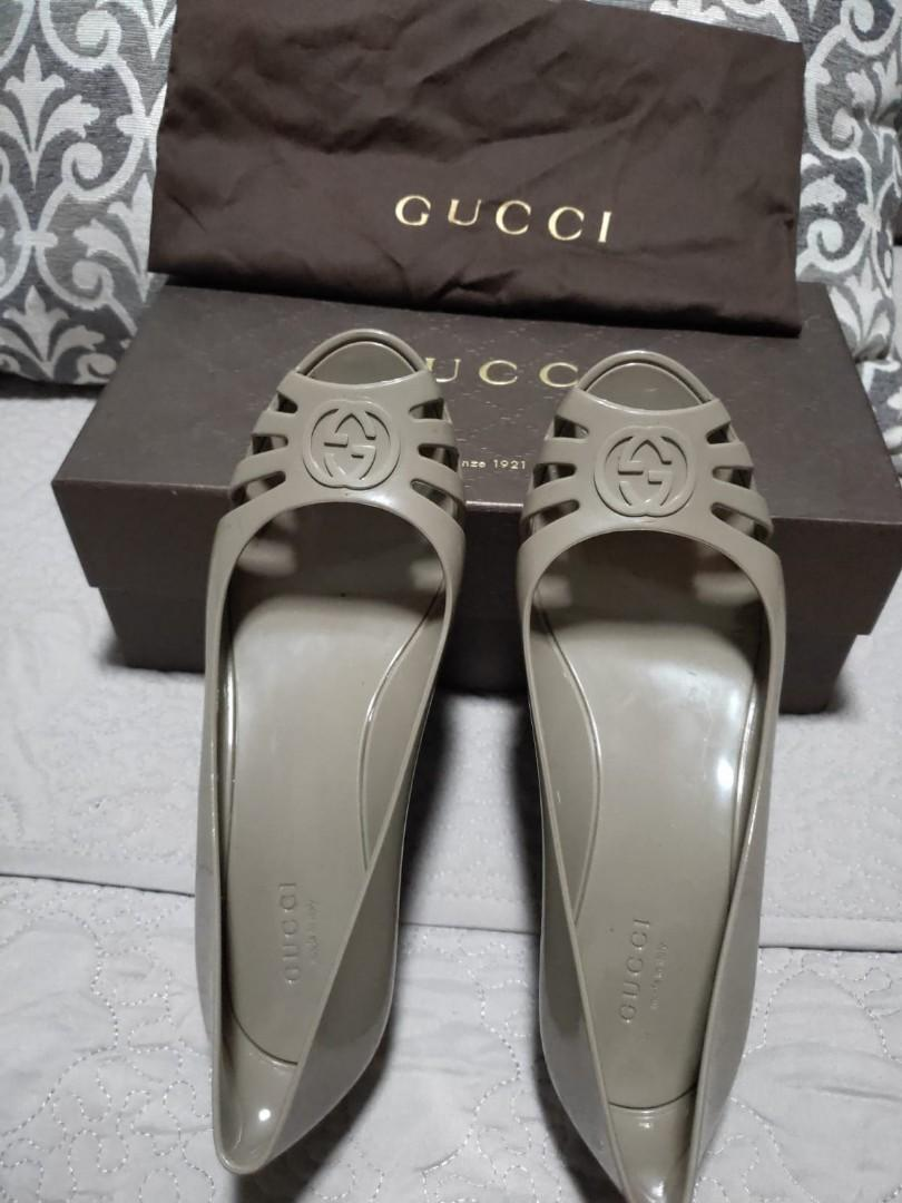 Gucci Rubber Wedges
