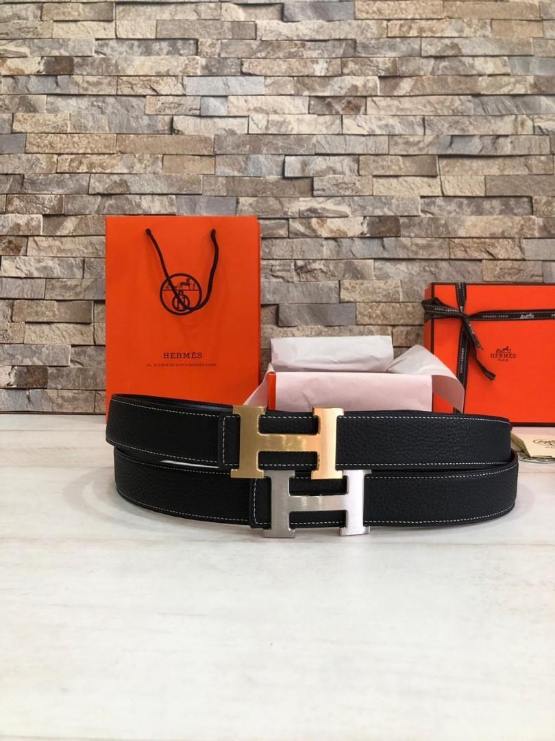 Hermes Belt   H @660,   SUPERMIRROR, 3.5cm, 2 sisi(Bolak Balik) bisa digunakan  (Size Euro 85-110)  Berat 500g