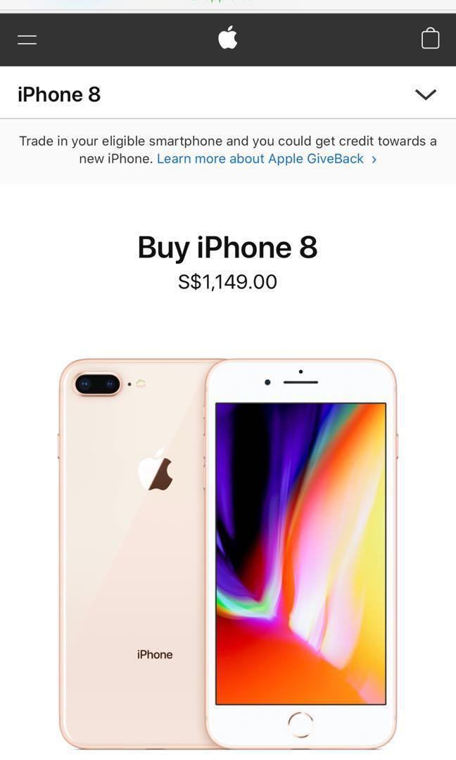 Iphone 8 Plus Rose Gold Mobile Phones Tablets Iphone