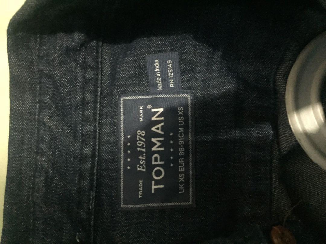 Kemeja jeans topman
