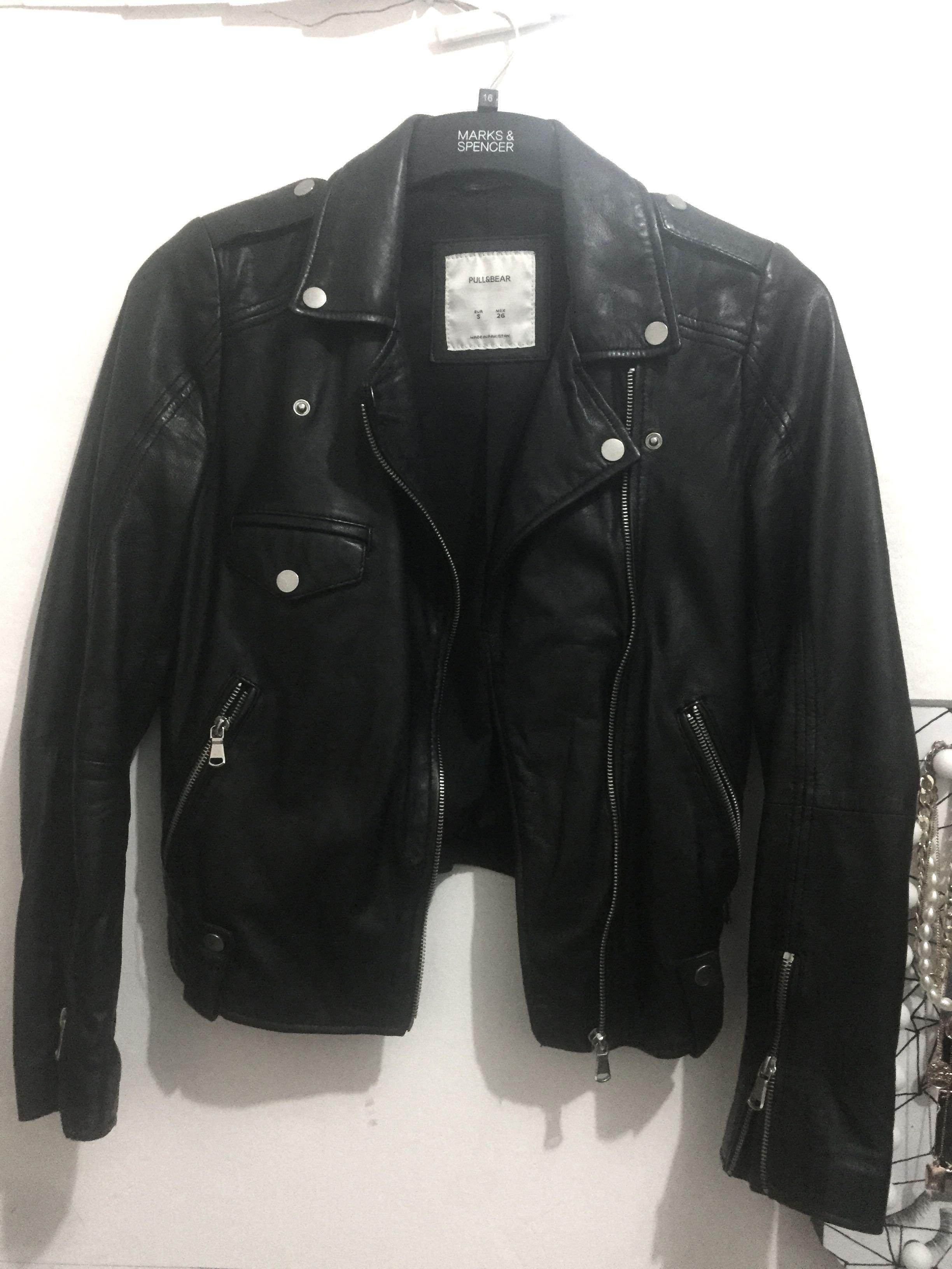 Leather Jacket Rider Woman Pull & Bear