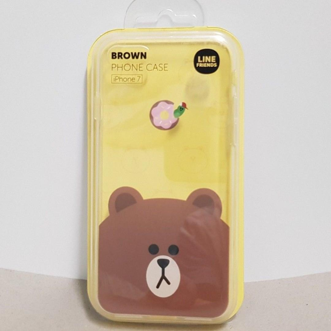 Line Friends iPhone 7 Phone Case Brown Apple Genuine Official Merch