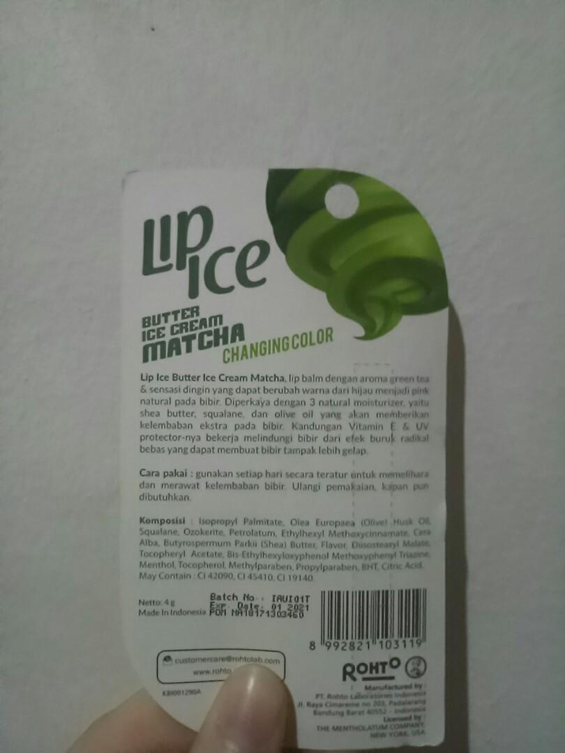 3pcs Lip Ice Butter Ice Cream Matcha