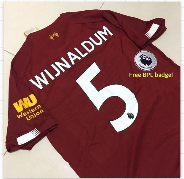 huge selection of afd11 b87b9 Liverpool home Jersey Gini Wijnaldum Size S, Sports, Sports ...
