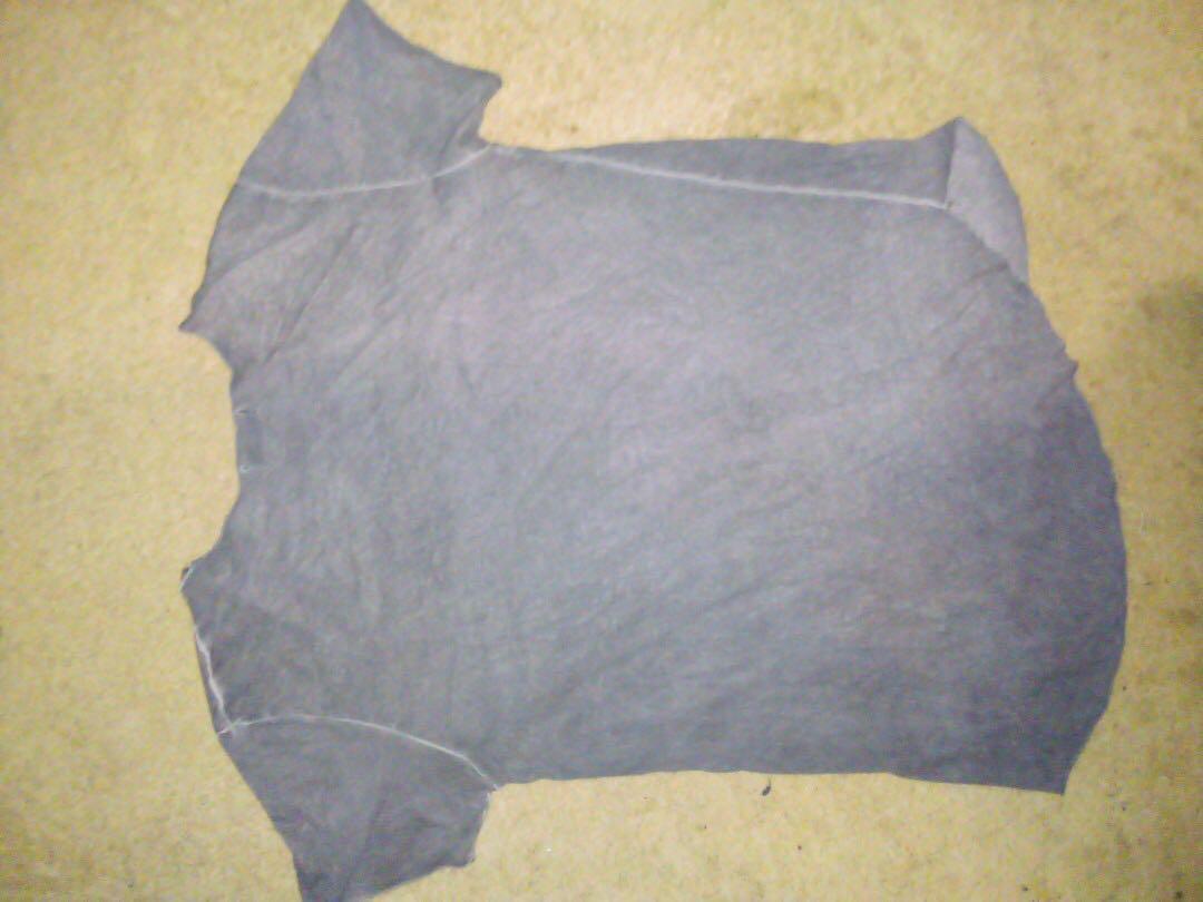 Long and lost men's grunge grey pocket t shirt size M