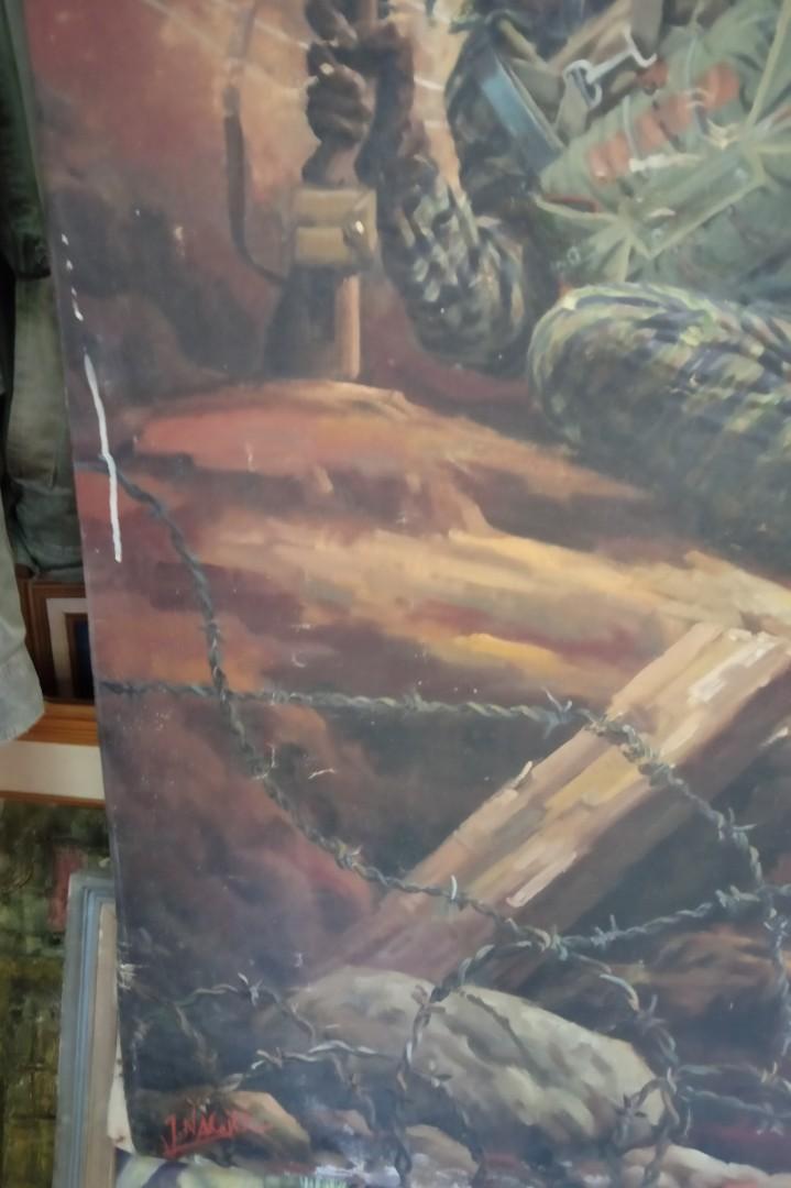 Lukisan Cat Minyak di atas Canvas