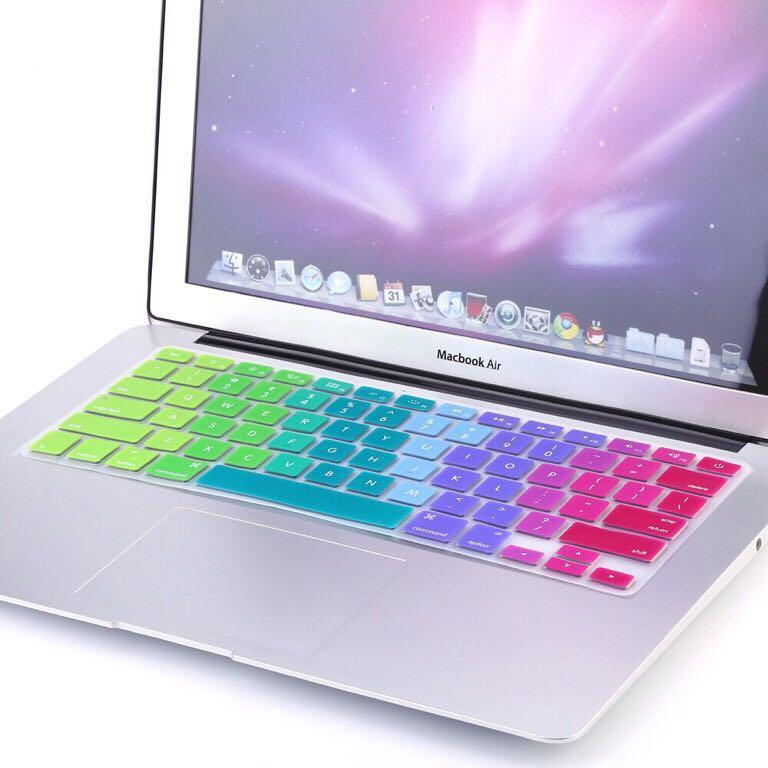 Macbook Pro Air Retina Keyboard Protector Cover Ombre Gradient Rainbow