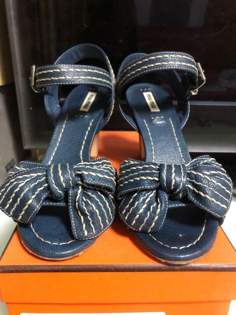 Miu Miu sandals 牛仔款涼鞋