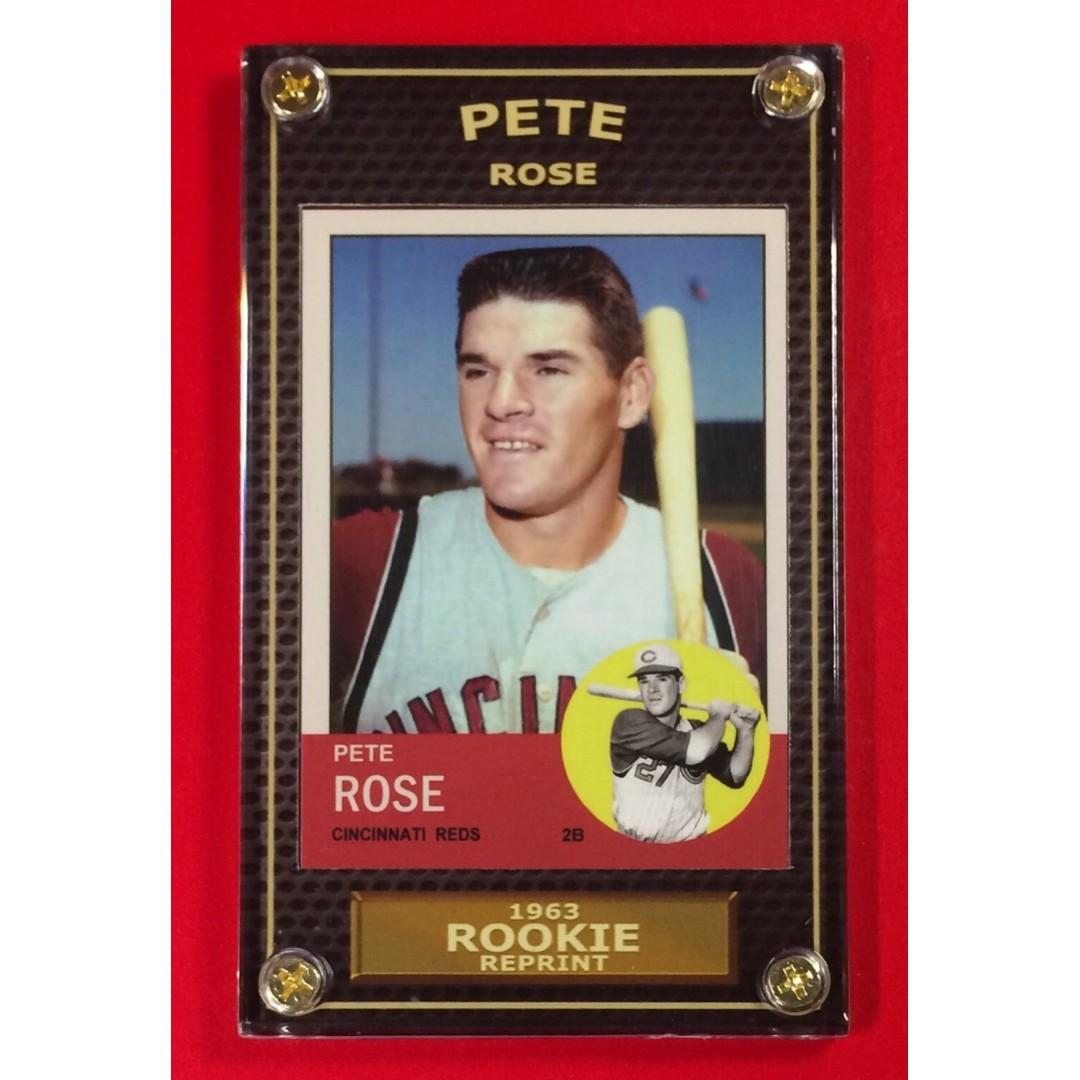 Mlb Baseball Card Pete Rose Rookie Reprint 1963 Topps On