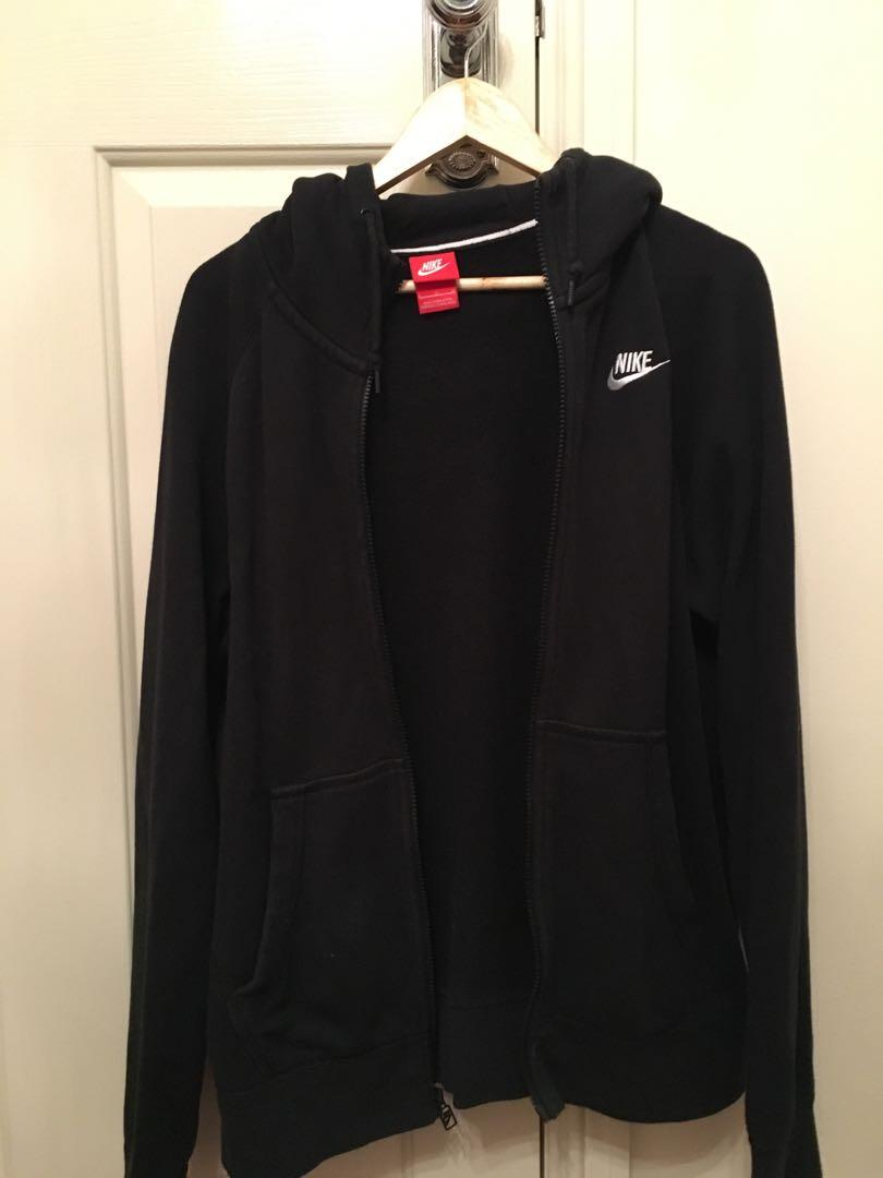 nike black zipper jacket