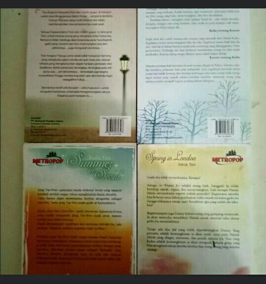 "Novel Mega Best Seller Ilana Tan: ""Autumn in Paris"" ""Winter in Tokyo"" ""Summer in Seoul"" ""Spring in London"""