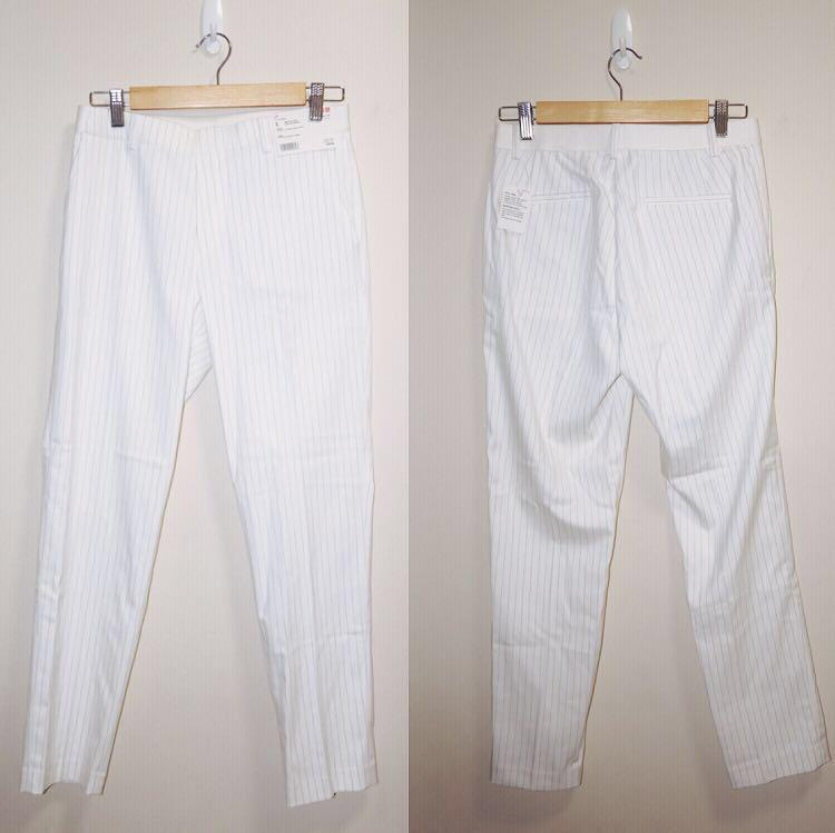 *NWT✨* UNIQLO Smart Style Ankle Length Pants in 01 Off White Women Size S