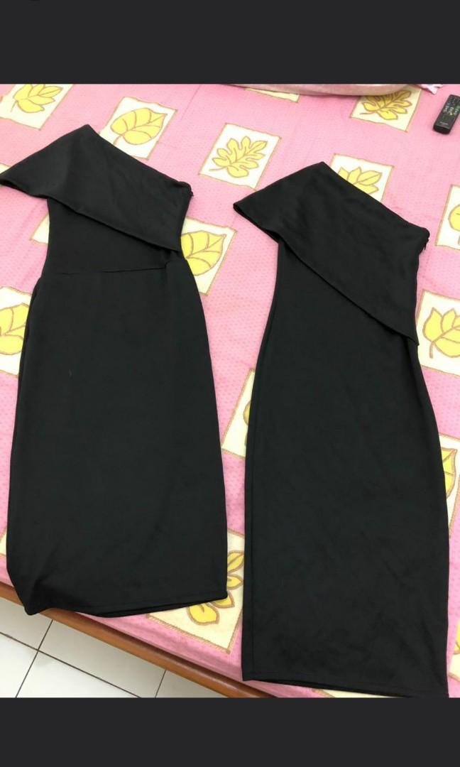 One Shoulder Dress / Black Dress Sabrina