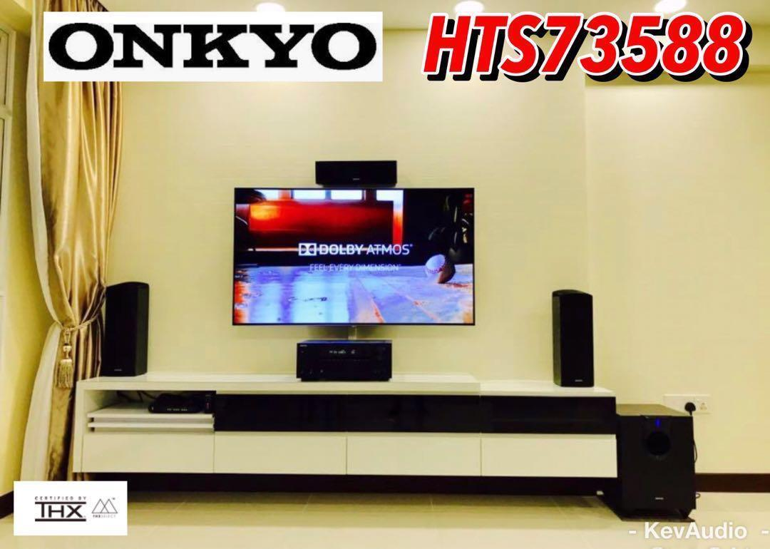 ONKYO ~ HTS73588 5 1 2 Ch Dolby Atmos & DTS:X System Package