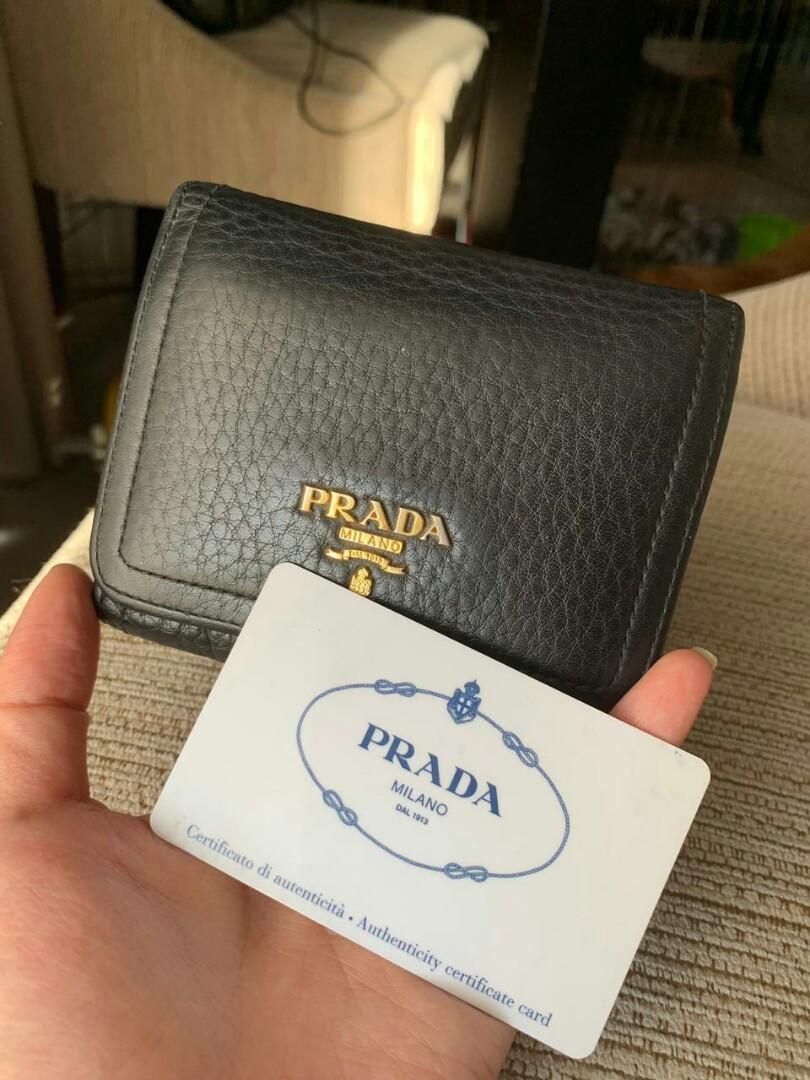 Prada black wallet