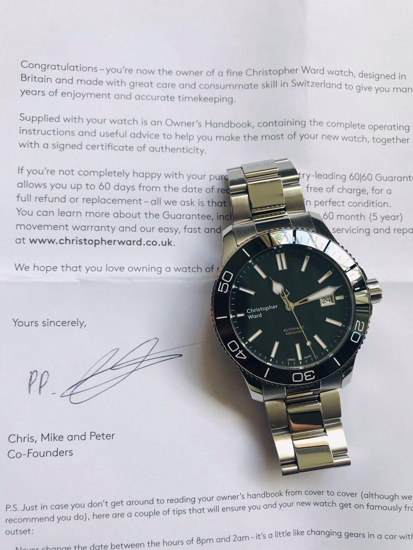 Christopher Ward C60 Trident Pro 600m Diver - Not Seiko Tag Heuer Sinn Omega IWC Rolex Breitling Ball Oris