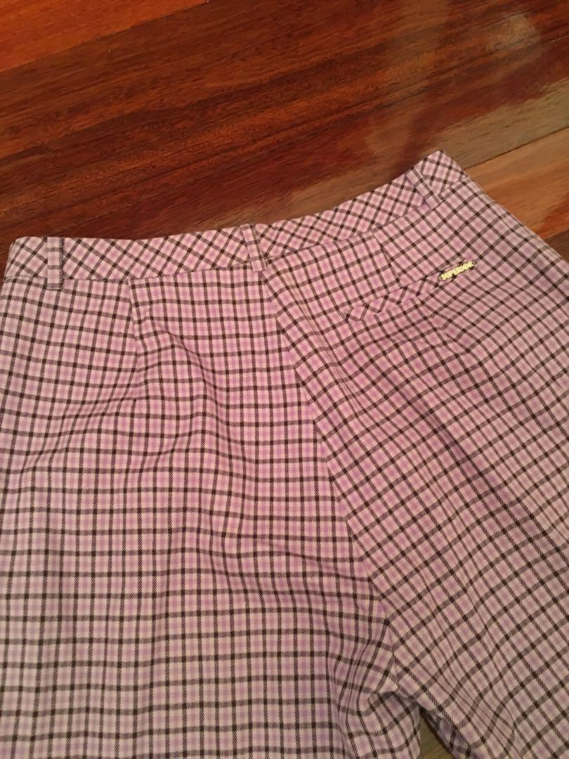purple plaid golf pants