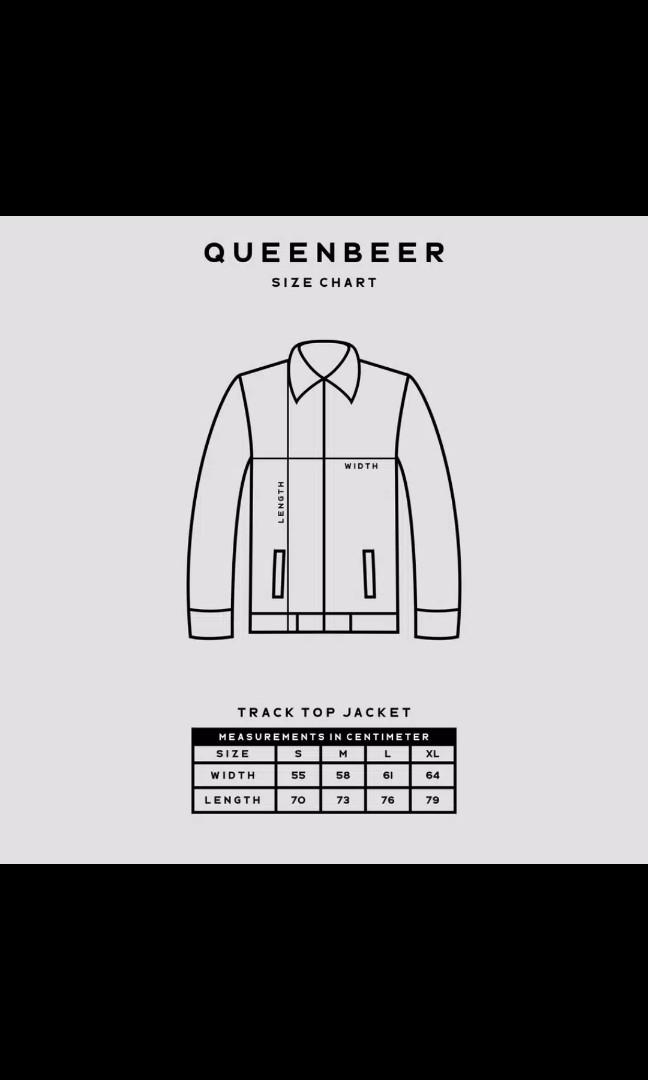 "QUEENBEER TRACKTOP JACKET - BRENDA WHITE SIZE ""L"" ONLY"