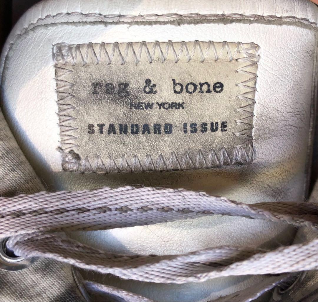 Rag & Bone New York standard issue white leather sneakers