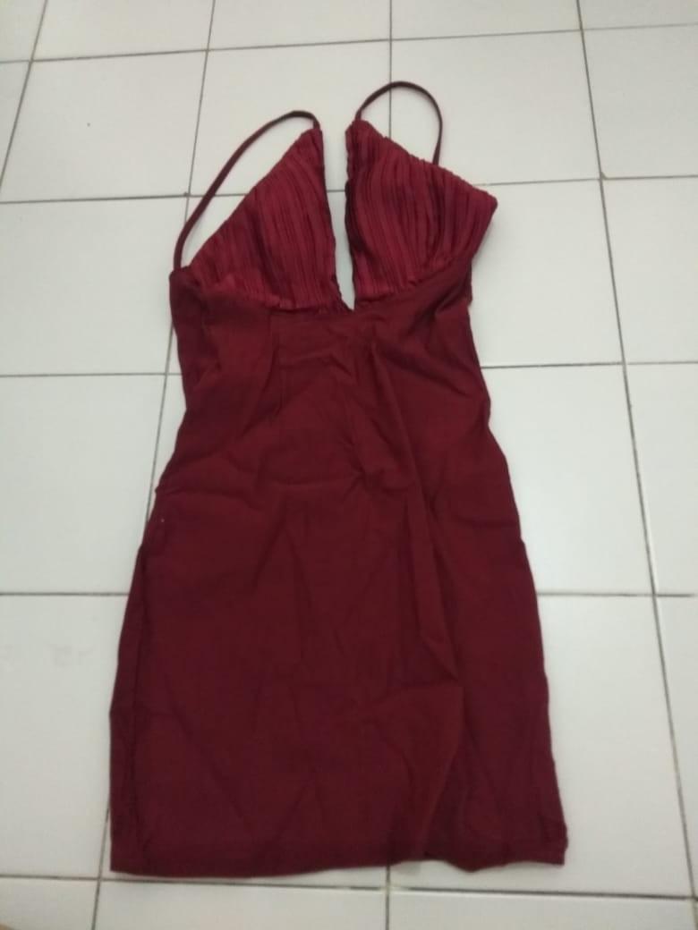 Red triangle dress