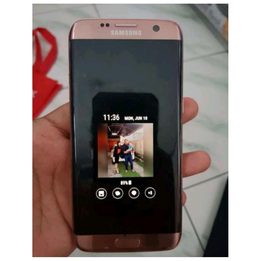 Samsung Galaxy S7 edge rose gold dus dan unit only