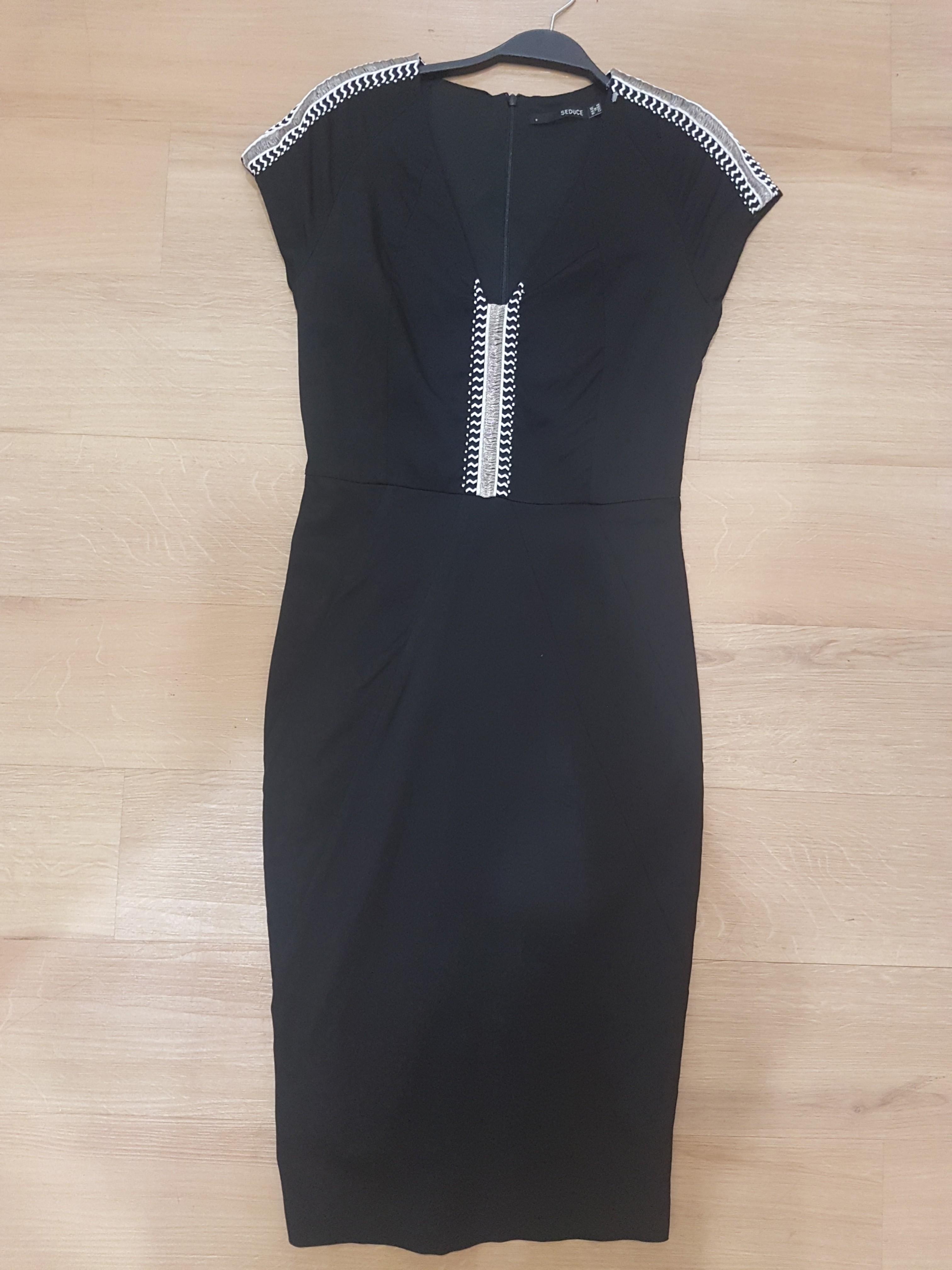 Seduce Dress Black Size 8 Bodycon Work Corporate Career