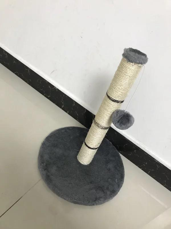 Simple Grey Cat Scratch Post
