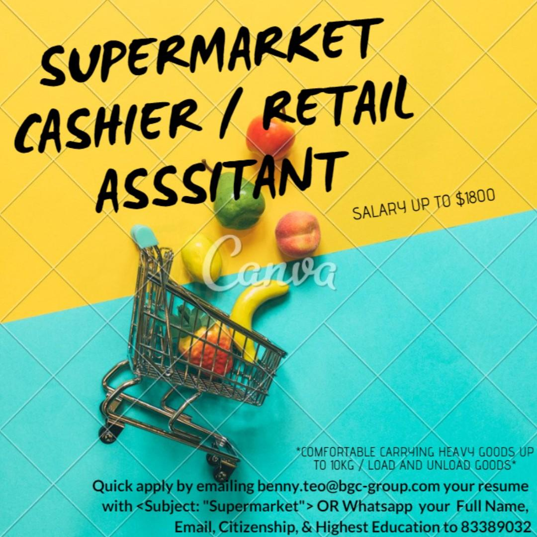 Supermarket Cashier / Retail Assistant