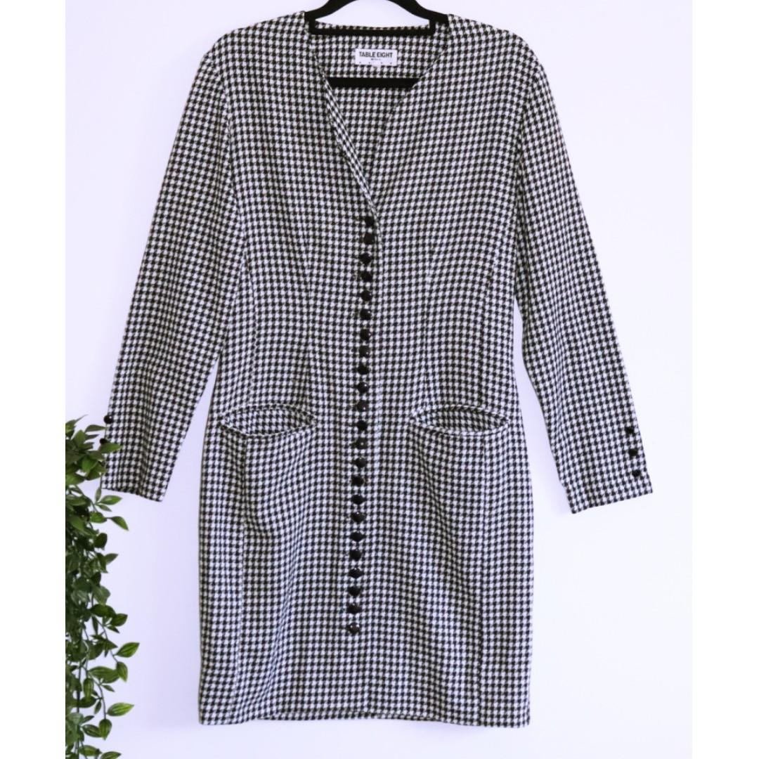 Table Eight Black & White Houndstooth dress - Size 8
